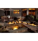 Hearth Products Controls (HPC Interlink Fire Pit Trough Pan (IL97X8SS-LP), 97x8 Inch, Propane Gas