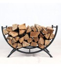 Firewood Log Rack,Heavy-Duty Decorative Fireplace Wood Storage Rack Outdoor Firewood Stacking Rack Easy to Assemble Firewood Rack,Firewood Rack for Patio Deck