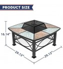 Mecor Outdoor Square Fire Pit/Fireplace, 30