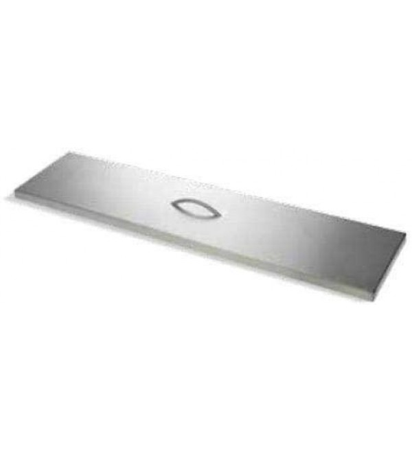 1 Set of Rectangle Brushed Stainless Fire Pit Cover Two Handle- 46