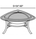 Covermates – Round Firepit Top Cover – 54–60 Dia– Prestige Collection – 10 YR Warranty – Year Around Protection - Clay