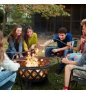 KINGSO 2-in-1 Outdoor Fire Pit with Cooking Grate 30