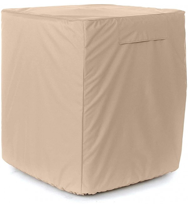 Covermates - Air Conditioner Cover – AC Cover for Outdoor Protection - Water Resistant and Weatherproof - Ripstop Tan