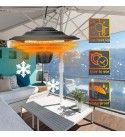 DIDIAN Outdoor Heaters,Hanging Outdoor Heaters for Patio,Ceiling Hanging Quartz Infrared Patio Heater,2500W Outdoor Indoor Outdoor Heaters-110v 42x42x24cm(17x17x9inch)