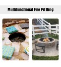 Giantex Fire Ring Heavy Duty Thick Solid Steel Fire Pit Liner 36-Inch Outer/30-Inch Inner Diameter, DIY Fire Pit Rim Above or In-Ground for Outdoor, Patio, Backyard