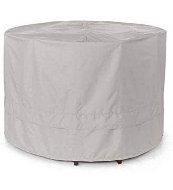 Round Firepit/Chair Set Cover – 72DIAMETER x 30H – Ultima Ripstop – 600D Fade/Water Resistant Polyester – Breathable Covered Ventilations - Ripstop Grey