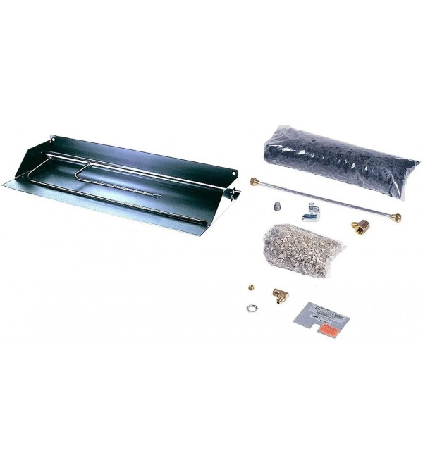 Rasmussen Flaming Ember Xtra Stainless Steel Outdoor Fireplace Burner Kit (FX15-SS-P-OS), Propane, 9.375-Inches