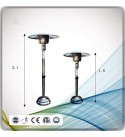 N / A Patio Heater for Outdoor, Umbrella-Shaped Natural Gas Heating Stove with Moving Wheels, Lifting Adjustment