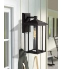 Zeyu Porch Wall Lantern 2 Pack, Outdoor Light Fixtures Wall Mount in Black Finish with Clear Glass, 1951-2PK BK