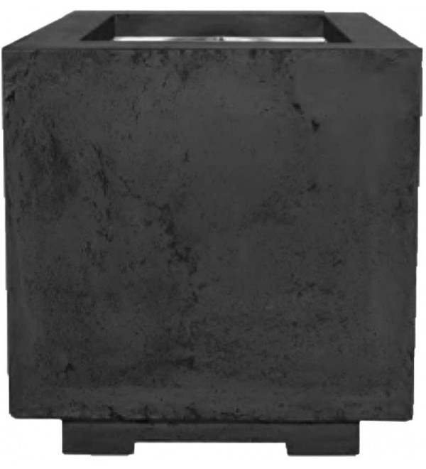 Prism Hardscapes Scatola Concrete Gas Fire Pit (PH-423-2NG), Natural Gas, Ebony, 20x20-Inch