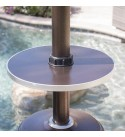 BELLEZE 014-HG-PH01-BRO Patio Heater Propane with Adjustable Tone Bron, Hammered Bronze w/Table