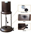 Two sets Patio heater gas propane stand heater outdoor waterproof gas patio heater 46000 BTU outdoor patio heater