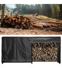 Firewood Cover, Dustproof Portable Adjustable Firewood Protection, Waterproof Oxford Cloth for Outdoor Firewood Wood Rack Indoor