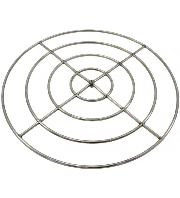 Hearth Products Controls (HPC Round Stainless Steel Fire Pit Burner (FRS-48HC-NG), 48-Inch, High Capacity, Natural Gas