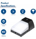Hyperikon LED Outdoor Wall Light, 30W Frosted, Photocell Dusk to Dawn Mount Sconce, Exterior Security Lighting, 4 Pack