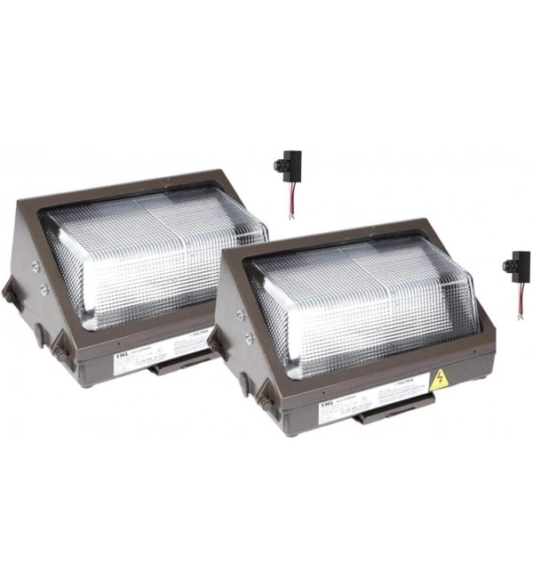 Light In Depot Commercial 40w LED Wall Pack Light 4500Lm Bright Consistent 5000K (175w MH Equal) AC120-277V Outdoor Security Lighting, Waterproof IP65, Philip 5050/Cree Chip (40w, 2 Pack)