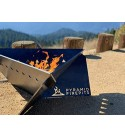Pyramid Firepits Outdoor Triangle Fire Pit | Versatile Gas or Wood Burning | Portable Fire Pits in Durable Steel for Patio, Backyard, Beach, Camping or RV