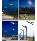 Commercial Solar Street Light-20000LM 6000K Outdoor Solar Powered Street Lamp with Remote Control Super Bright, LOVUS, ST200-007