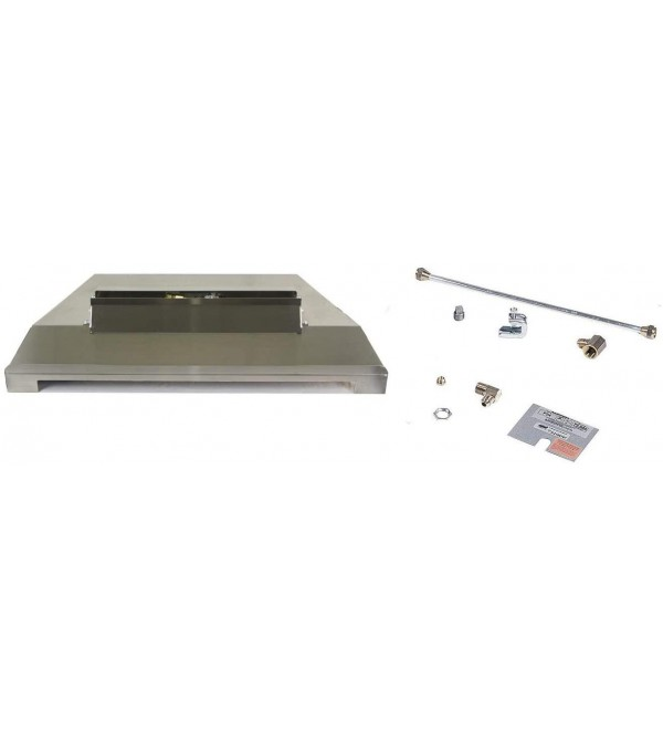 Rasmussen FireLine Outdoor Fireplace Burner Kit for Fire Glass (FLB18N-SS-N), Natural Gas, 12.875-Inches