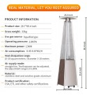 Outdoor Gas Patio Heater Standing Outdoor Heater Stove Propane Gas Portable Commercial Outdoor Heater Stove 48000 BTU.