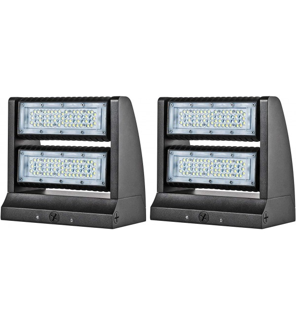 120W Rotatable LED Wall Pack - 2 Pack Adjustable Head UL DLC Listed 16200LM LED Wallpack Light 5000K