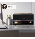 Monster Retro   Qi Wireless Bluetooth Charger Speaker, 30 Watts, Wireless Qi Charger, Retro Look, Alarm sync, RGB LED