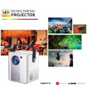 Portable Mini Projector Outdoor 5500Lux Full HD 1080P and 120'' Display Supported,HiFi Speaker Portable Wireless Mirroring Projector for TV Stick/PC/PS4/HDMI Home Theater
