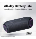 LG PL7 XBOOM Go Water-Resistant Wireless Bluetooth Party Speaker with Up to 24 Hours Playback – Black (Renewed)