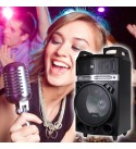 1200W 12 inches Power Party Bluetooth/USB/SD Stereo Rechargeable Portable Speaker - PKL102PK1 - Perfect for Beach/Home/Birthday/DJ Party/Camp/Jobsite/Construction/Industrial
