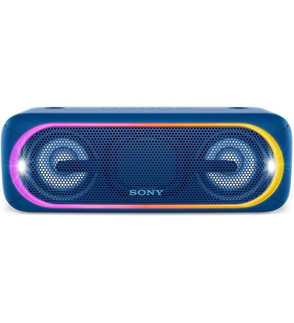 Sony XB40 Portable Wireless Speaker with Bluetooth and Speaker Lights, Blue